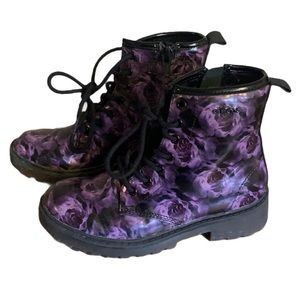 "Geox Purple Rose ""Docs"" Boots - Girl's Size 30"